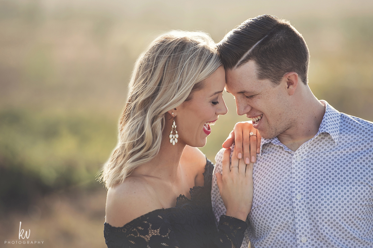 Laughter and love during the engagement photos