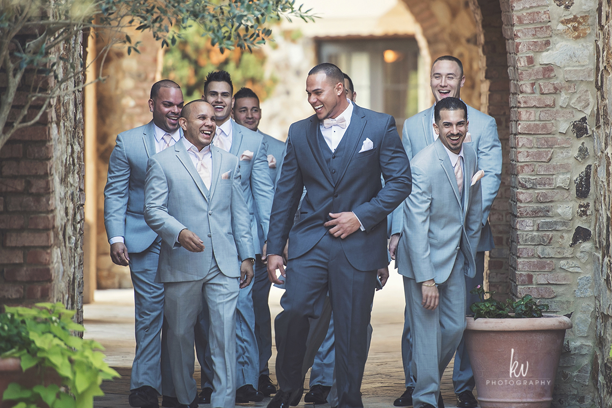 Groomsmen having a great time