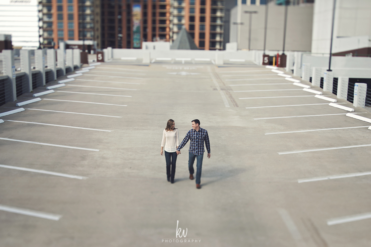 Fun engagement session walking around downtown Orlando