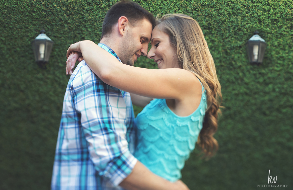 Engagement session at Rollins College in Winter Park Florida