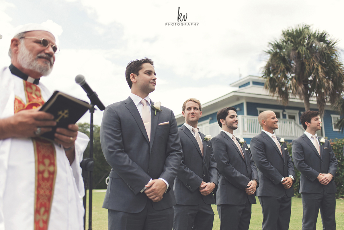 Ceremony time at Tampa Bay Watch wedding