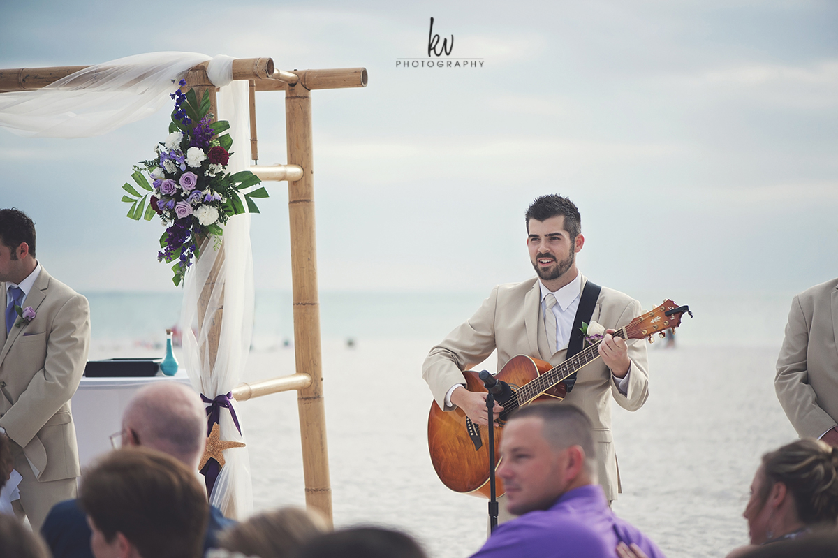 Intimate beach wedding and the Sirata resort at St. Petersburg Florida