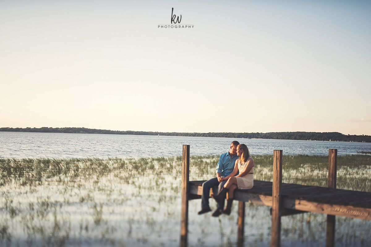 Engagement photos in Clermont Florida
